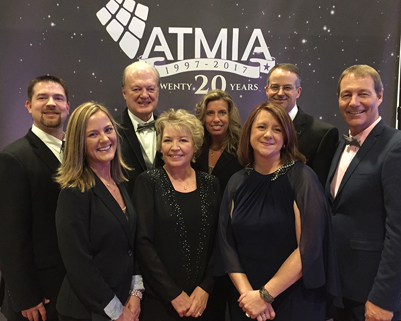 ATMIA US staff with ATMIA Founding Director, Tom Harper